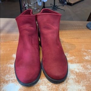 Barely worn red Arche booties. Comes w/ box